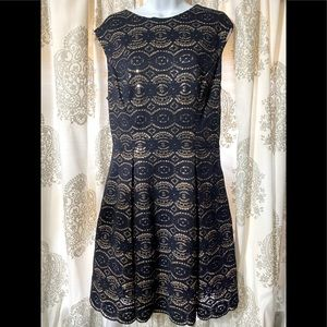 Vince  Camuto navy blue and gold sequined dress!!